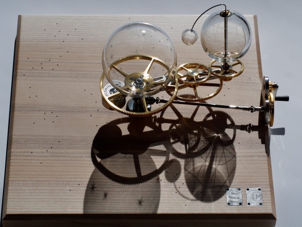 planétarium mecanique. mechanical orrery. Arts mécanique. mechanical art watchmaking art